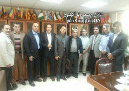 جلسه مجموعه مدیریتی واعضا شورای فنی با  رئیس فدراسیون کونگ فو